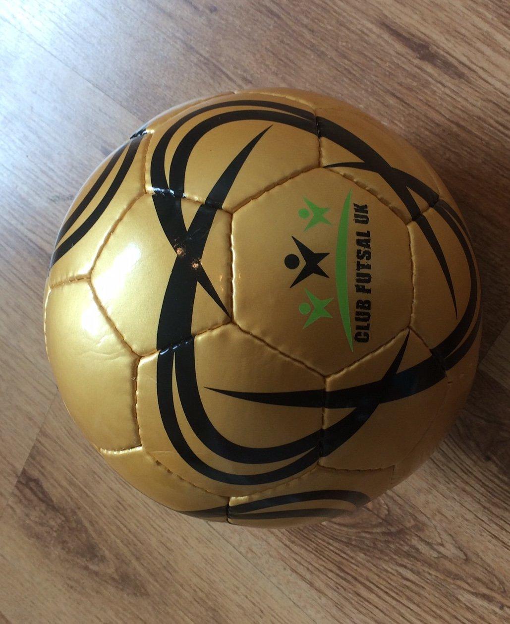 10 x Futsal Ball Size 3 White clubfutsaluk