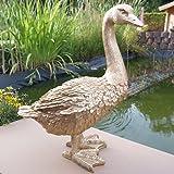 Dekofigur Goldene Gans Ente Vogel Erpel Tierfigur Deko Weihnachten Gans