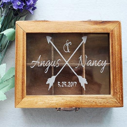 Tarjeta de madera caja recuerdos boda libro de invitados para boda ...