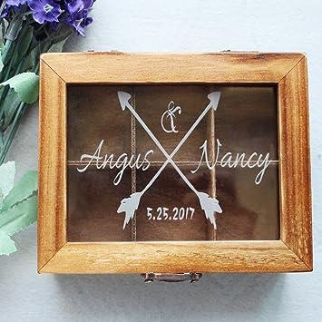 Vintage Hochzeit Holz Karte Box Andenken Hochzeit Gastebuch