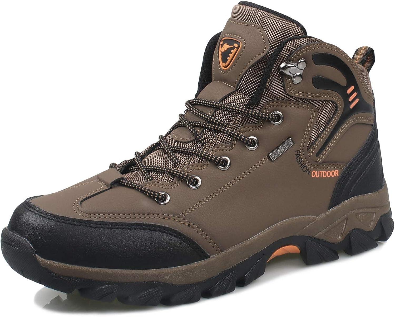 4HOW Mens Waterproof Lightweight Hiking Boots Winter Snow Boots Climbing Shoes
