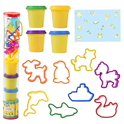 Kids Clay Dough Tools Playset, Animal Sea Creat...