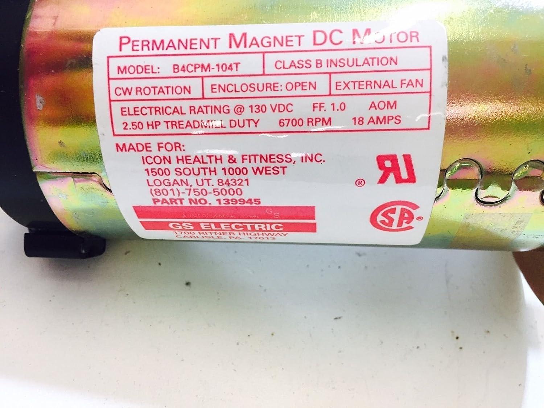 DC Drive Motor Icon Health & Fitness 2.5 HP 139945 Funciona con ...