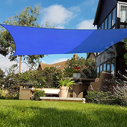 Ankuka 2m x 3 m Rectangle Sun Shade Sail Outdoor Waterproof Garden Patio Party Sunscreen Awning Canopy 98/% UV Block With Free Rope