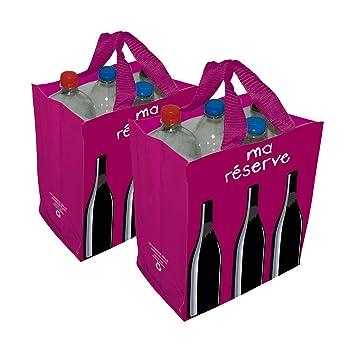 "Diseño Francia botella y vino bolsa de transporte para 6 botellas – ""Ma Réserve"""