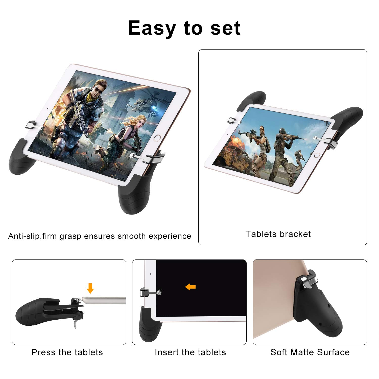 AnoKe Tablet Controller 2 Controller Tablet Game Trigger//Mobile Gaming Controller Compatible with Android Tablet iOS