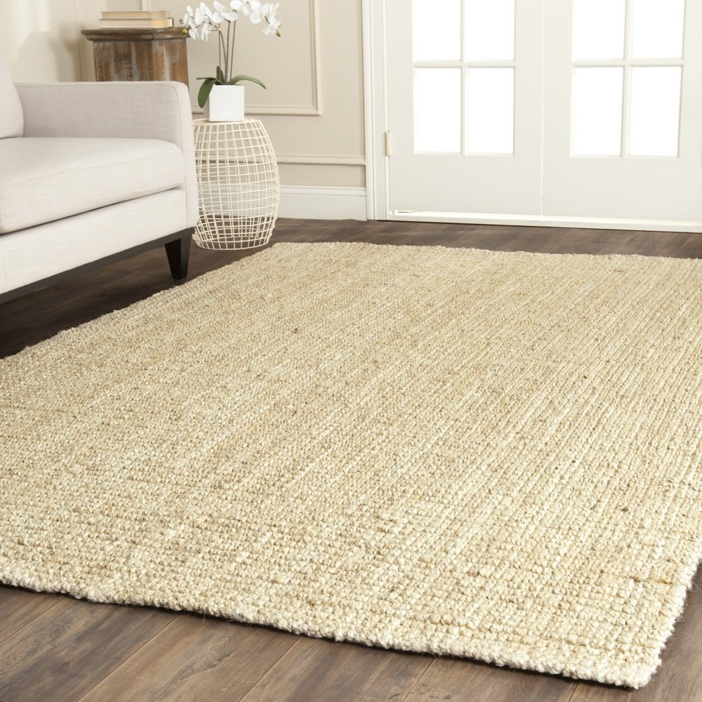 Safavieh Natural Fiber Collection NF730A Hand Woven Ivory Jute Area Rug (6' x 9') by Safavieh