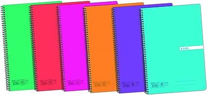 Cuadernos Folio(A4) Enri. Pack de 5 unidades. Tapa plástico. 80 ...