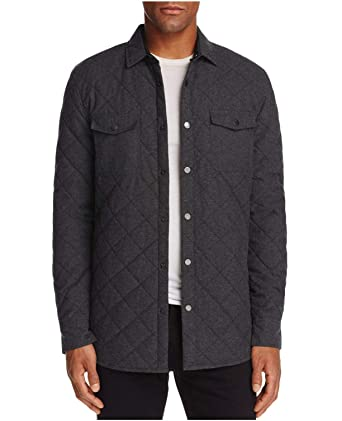 07cb07379 Sovereign Code Redding Quilted Regular Fit Shirt Jacket Charcoal ...