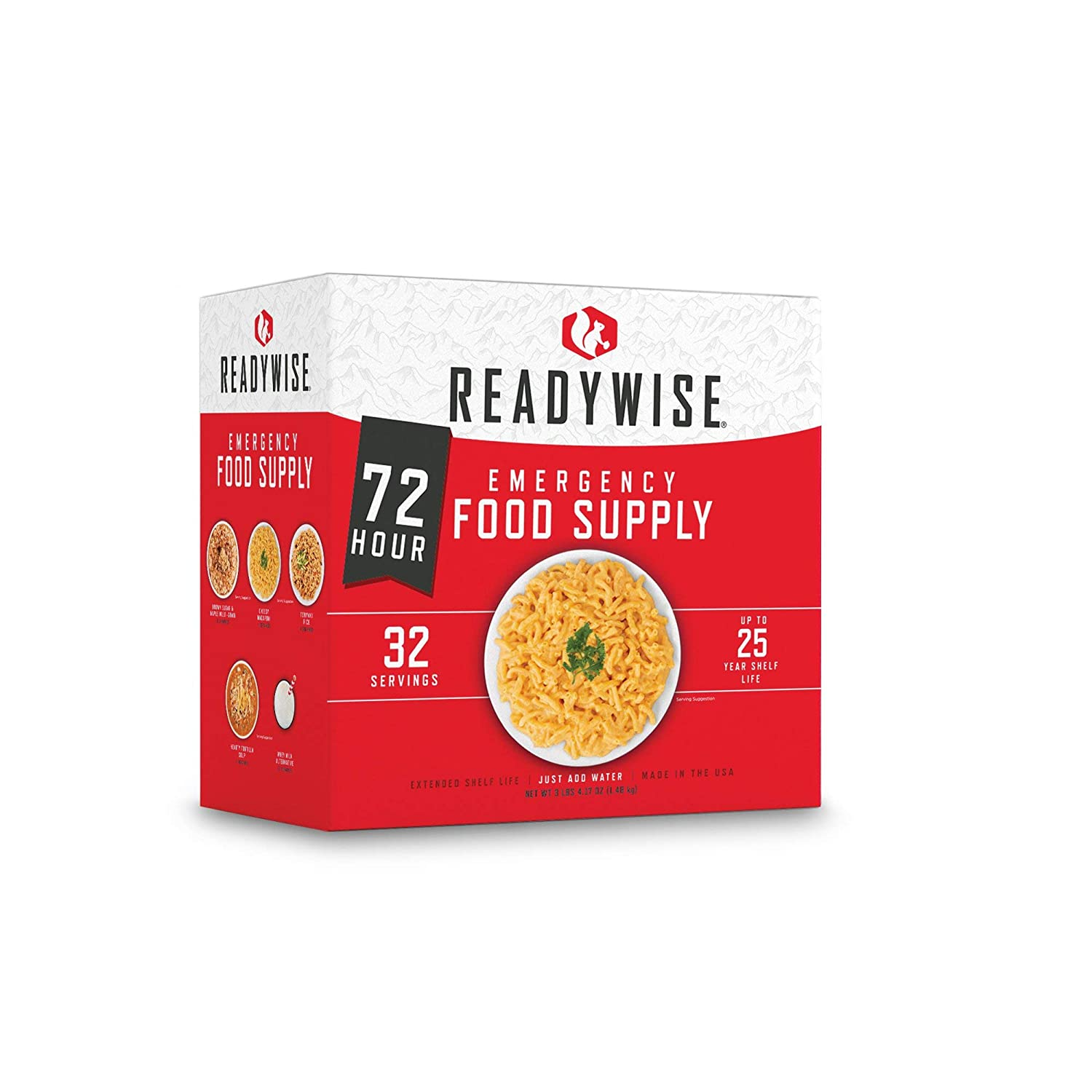 ReadyWise Emergency Freeze-Dried Food and Drink Supply, 72 Hour Variety, 34 Servings - Disaster Preparedness