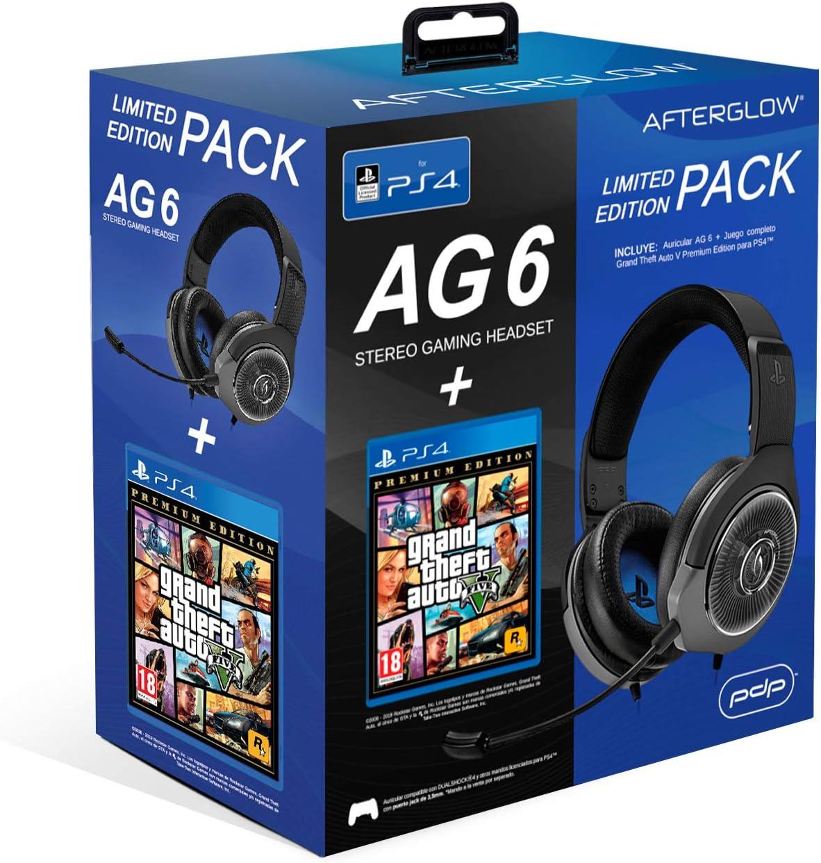 PDP - PDP - AG6 Wired Afterglow Auricular Gaming + GTA V Premium Edition (PlayStation 4) (PlayStation 4): Amazon.es: Videojuegos