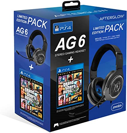 PDP - PDP - AG6 Wired Afterglow Auricular Gaming + GTA V Premium ...