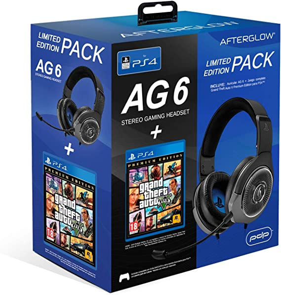 PDP - PDP - AG6 Wired Afterglow Auricular Gaming + GTA V Premium Edition (PlayStation 4) (PlayStation 4): Amazon.es: Videojuegos