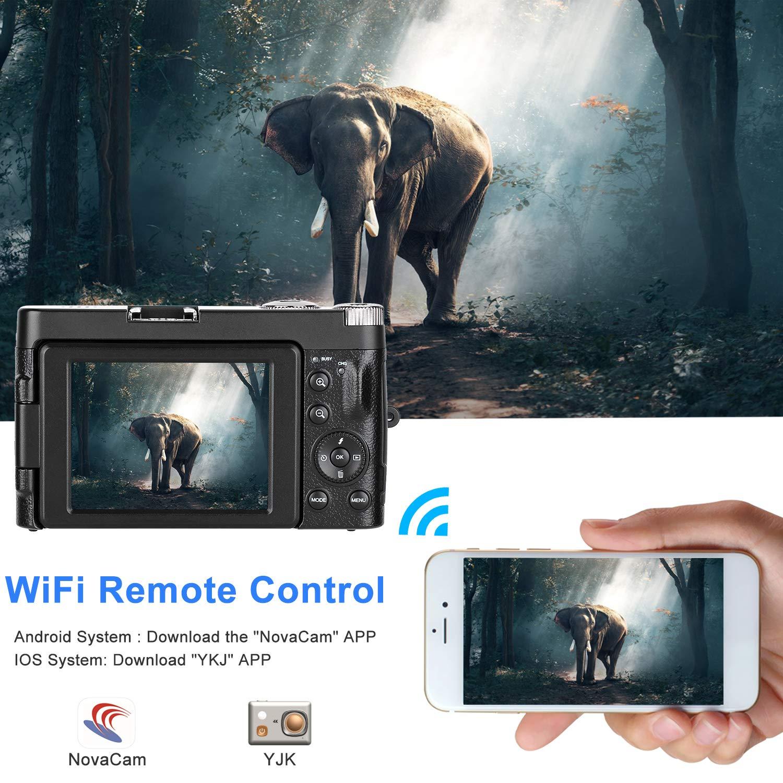 Digital Camera Camcorder WiFi Vlogging Camera ColfunKool Full HD