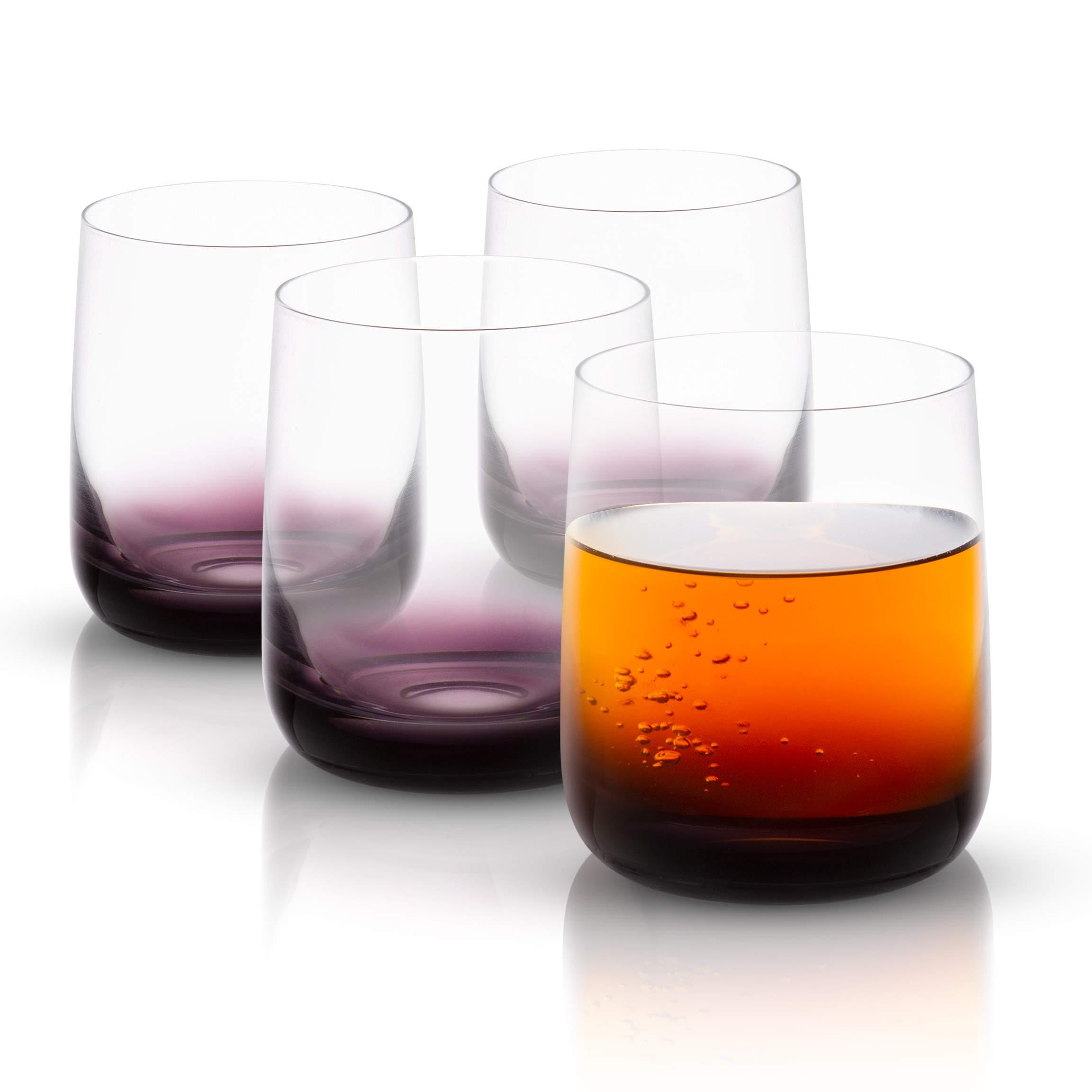 JoyJolt Black Swan Collection Glassware (DOF Glasses)