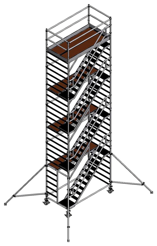 Altec Escaleras Torre de aluminio altura 10,2 m gleichlaufend