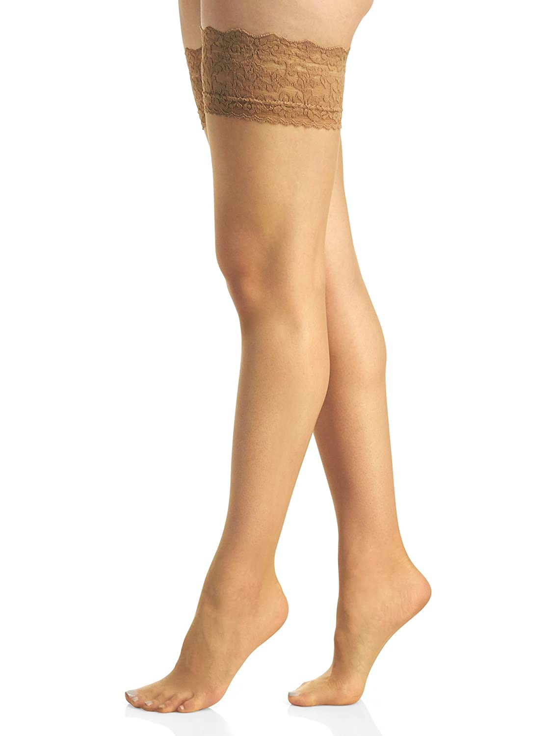 Berkshire Womens Romantic Lace Top Thigh High Pantyhose 1363