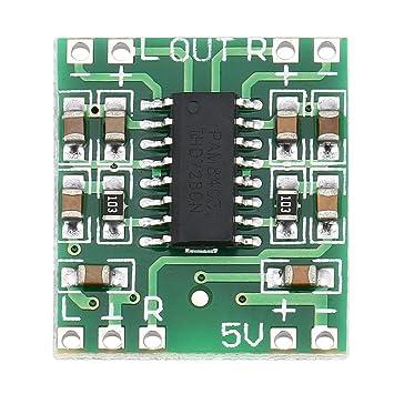 Laurelmartina 2 Canales de 3W de Potencia Digital PAM8403 Clase D Módulo de Audio Amplificador Junta
