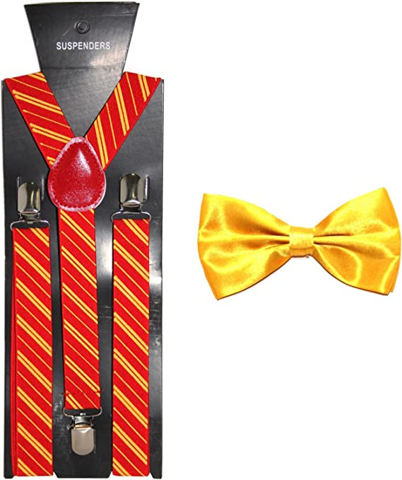 Black Yellow Novelty Suspenders By The-Perfect-Necktie
