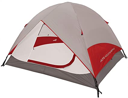 Amazon Com Alps Mountaineering Meramac 3 Person Tent Gray Red Sports Outdoors