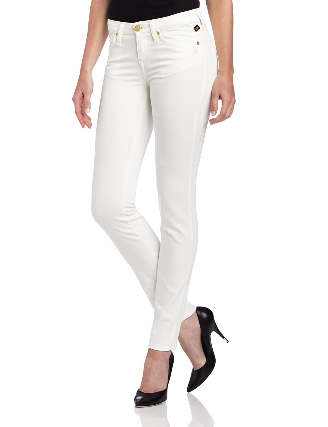 Vivienne Westwood for Lee Women's Skinny Jean in Ecru