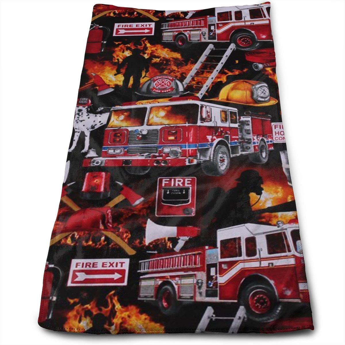 Dog Firefighters Soft Cotton Large Hand Towel- Multipurpose Bathroom Towels for Hand, Face, Gym and Spa Shower Curtain pillow