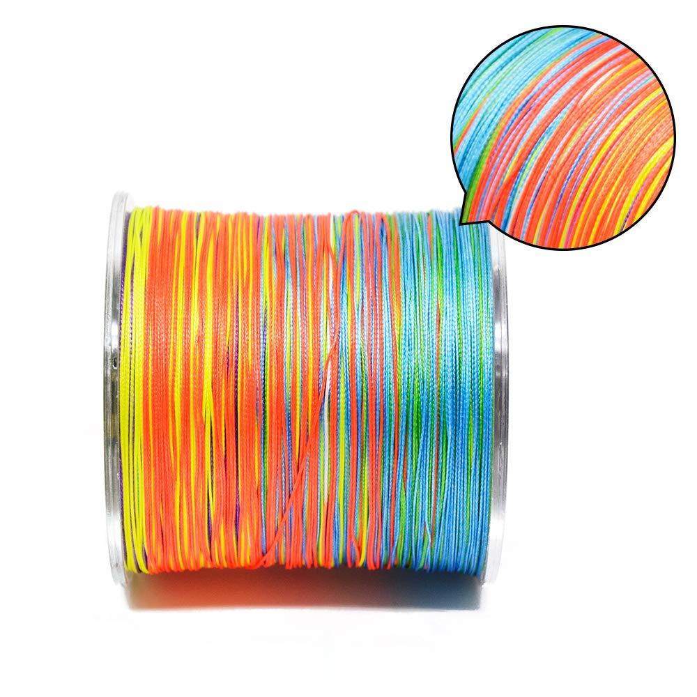 8fili intrecciato lenza 300m multi colore super forte Giappone multifilamento PE Braid linea 4,5kilogram 9,1kilogram 13,6kilogram 18,1kilogram 49kilogram 58,1kilogram