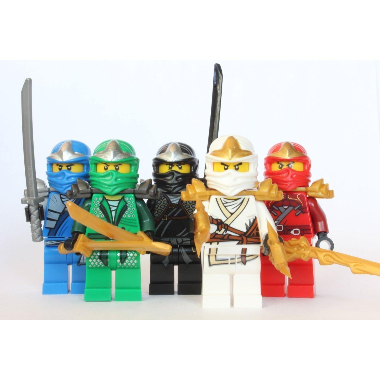 lego ninjago 5 zx ninjas lloyd kai cole jay zane amazoncouk toys games