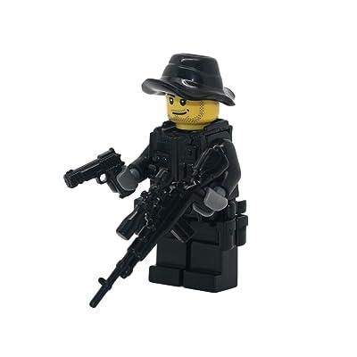 Modern Brick Warfare Special Forces Sniper Custom Minifigure: Toys & Games