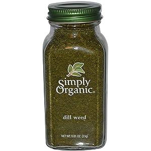 Simply Organic, Dill Weed, 0.81 oz (23 g) Simply Organic, Dill Weed, 0.81 oz (23 g)