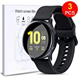FINENIC Compatible with Samsung Galaxy Watch Active 2 44mm Screen Protector [Max Coverage][Bubble-Free] HD Clear Flexible Film with Lifetime [3 Pack]
