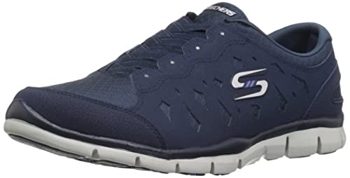 Skechers Gratis-Light-Heart, Zapatillas sin Cordones para Mujer, Azul (Navy), 35 EU