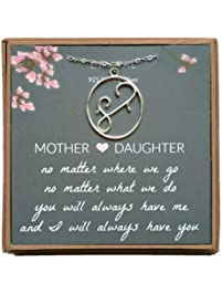 EFYTAL Mom Gifts, 925 Sterling Silver Mom and Child Oval Necklace for Mother & Daughter, Necklaces for Women, Best...