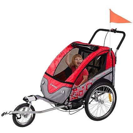 2 en 1 Land-Haus-Shop colgante Froggy Jogger Remolque de bicicleta Acero Color