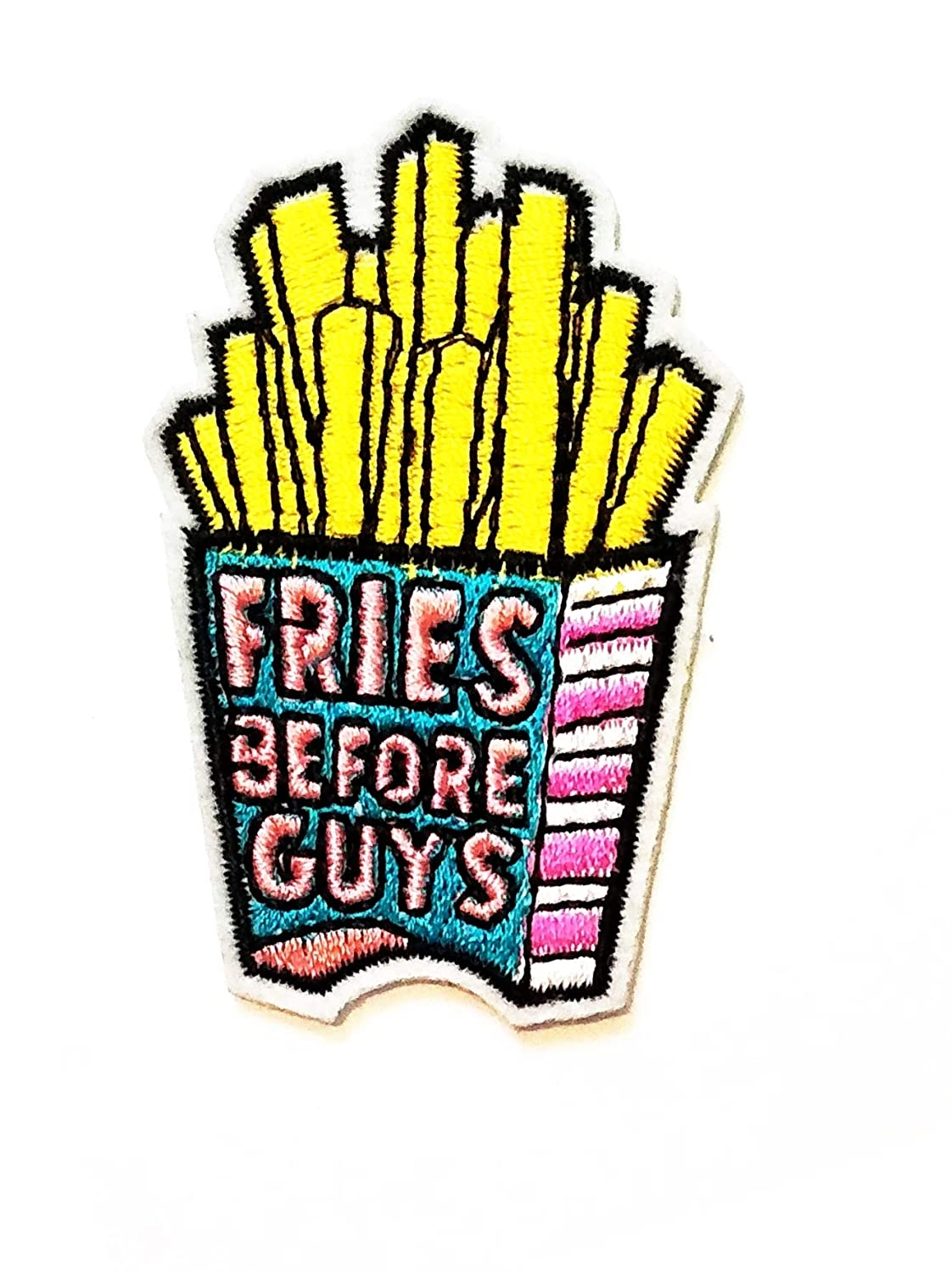Nipitshop Patches Cute Nice French Fries Snack Food Cartoon Kids Patch Embroidered Iron On Patch for Clothes Backpacks T-Shirt Jeans Skirt Vests Scarf Hat Bag