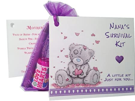 Nanas Survival Kit Keepsake Card And Gift Ideal For Mothers Day Or