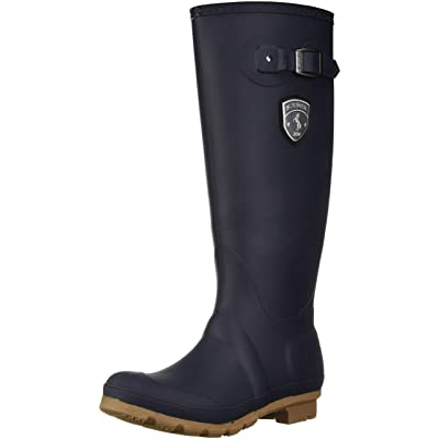 Kamik Women's Jennifer Rain Boot, Navy Gum, 7 Medium US | Mid-Calf