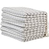 (Set of 6) XXL Turkish Cotton Bath Beach Hammam Towel Peshtemal Throw Fouta Blanket Set