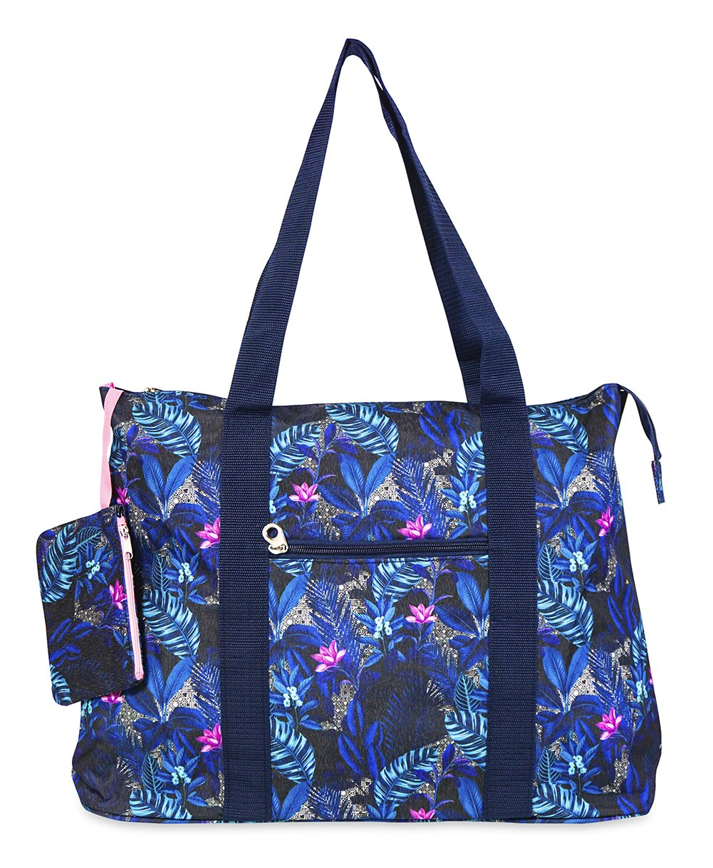 Jenzys Floral Large Travel Toteバッグ   B07FB57RG9