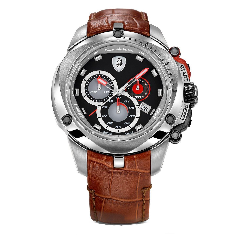 Amazon Com Tonino Lamborghini 7803 Shield Series Chronograph Watch