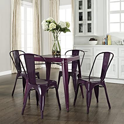 Superbe Amelia 5 Piece Café Dining Set Finish: Purple