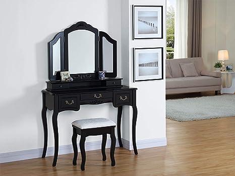 Sgabello In Legno Design : Generic w plus sgabello con cassetti in legno nero e un cassetto
