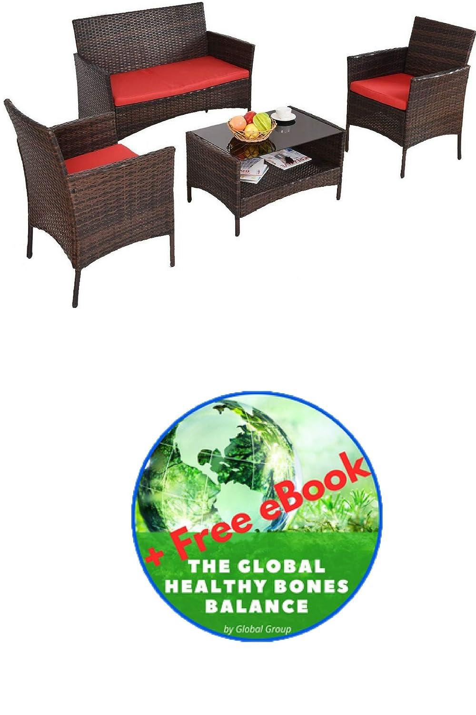 Amazon.com: Conjunto de mesa de comedor con estante, sofá y ...