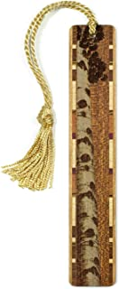 product image for Aspen Tree - Botanical - Engraved Wooden Bookmark on Sapele with Tassel - Search B0722NJZ9W to See Personalized Version.