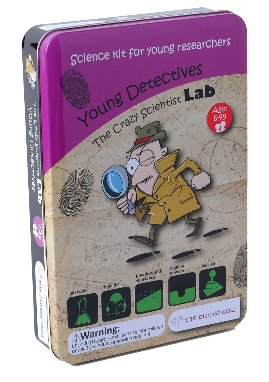 The Purple Cow The Crazy Scientist Lab Young Detectives - Science Kits for Young Researchers - for Learning & Education - STEM/ Steam Educational Games for Kids, Boys & Girls, with Instructions by The Purple Cow