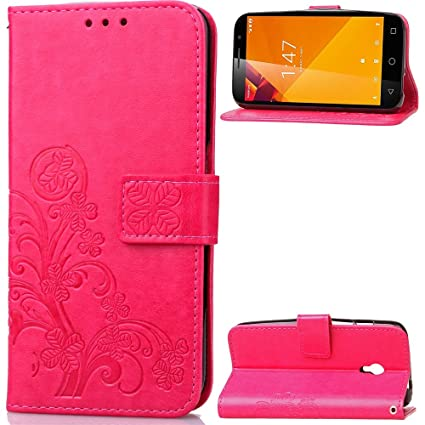 Vodafone Smart Turbo 7 Case, CaseFirst Wallet Case Flip Back Cover Slim Protector Protective Stand