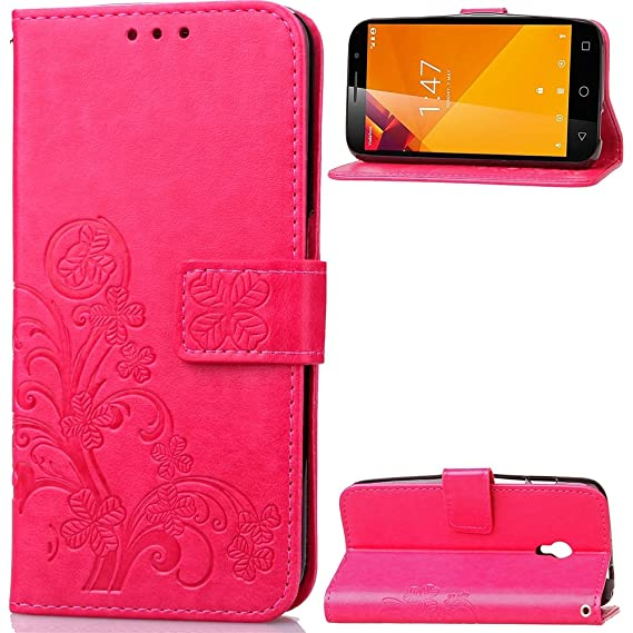 Vodafone Smart Turbo 7 - Cover Cover Wallet Style Flip Cover Case For Vodafone Smart Turbo