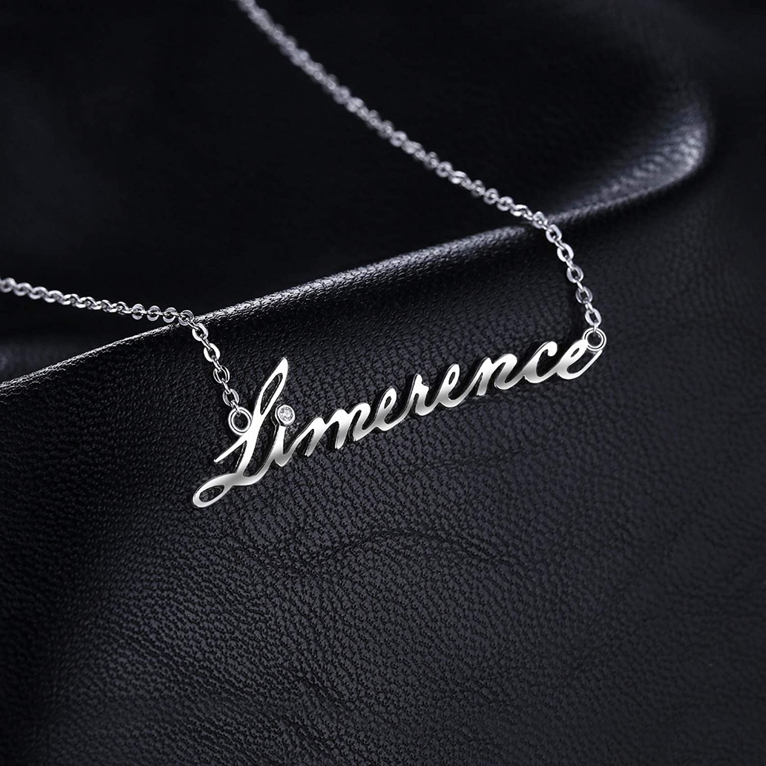 Pendants Necklaces by CS-DB Limerence Goodluck Cubic Zirconia Silver Womens Jewelry