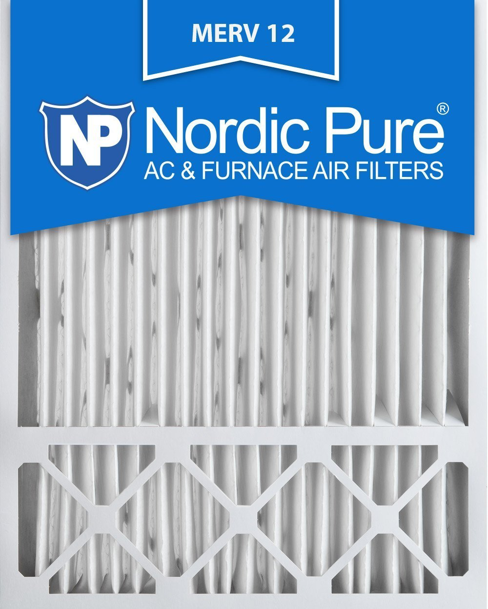 Nordic Pure 20x25x5 Honeywell Replacement AC Furnace Air Filters, MERV 12 (Box of 2 - 2-Pack)