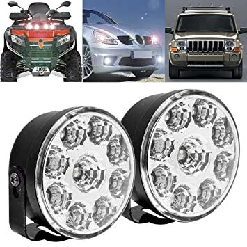 Eximtrade 2 Piezas 9 LED Auto Coche Conducción Luces Diurna Faros Antiniebla Lámpara DRL SUV Camión Vehículo: Amazon.es: Coche y moto